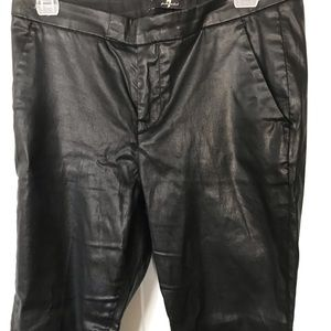7 for all mankind coated pants- Black- Size 28